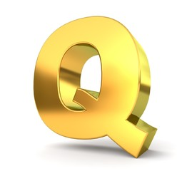 3d golden letter collection - Q
