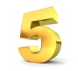 3d golden number collection - 5