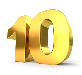 3d golden number collection - 10