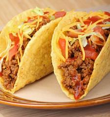 Closeup of Two Tacos