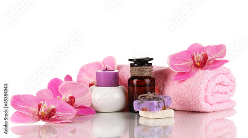 Bottle with aromatic oils with accessories for relaxation