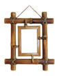 Bamboo frame on the white background