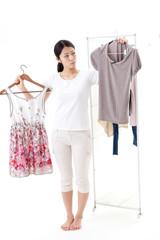 a young asian woman fashion image