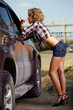 blonde girl hitchhiker