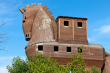 Trojan Horse located in Troy, Turkey poster