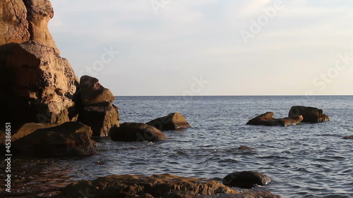 evening seascape with rocks