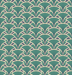 seamless pattern from lines, floral retro theme
