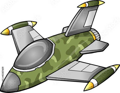 Foto op Plexiglas Militair Cute Fighter Jet Aircraft