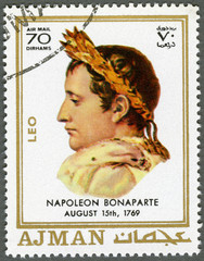 AJMAN - 1970: shows Napoleon Bonaparte (1769-1821)