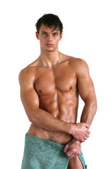 Wet Muscular Man