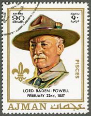 AJMAN - 1970: shows Robert Baden-Powell (1857-1941)