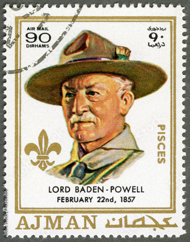 AJMAN - 1970: shows Robert Baden-Powell (1857-1941)