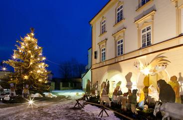 Nove Mesto nad Metuji at Christmas, Czech Republic