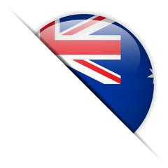 Australia Flag Glossy Button