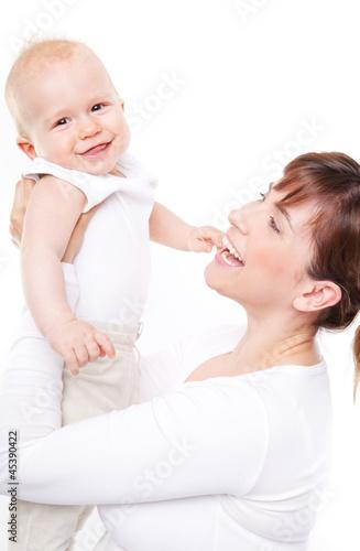 mama happy mit baby