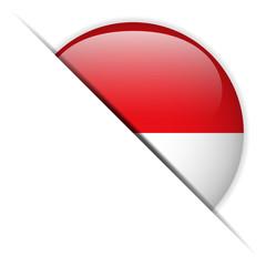 Monaco Flag Glossy Button