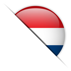 Netherlands Flag Glossy Button