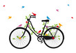 old bicycle with birds, vector - 45391248