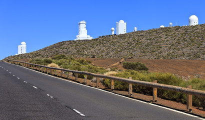 Telescopes of the Teide Astronomical Observatory,Tenerife