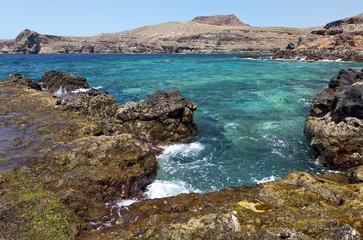 Rocky coast in Puerto de las Nieves, Gran Canaria