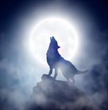 Fototapety Howling wolf