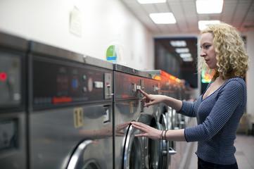 Laundromat girl