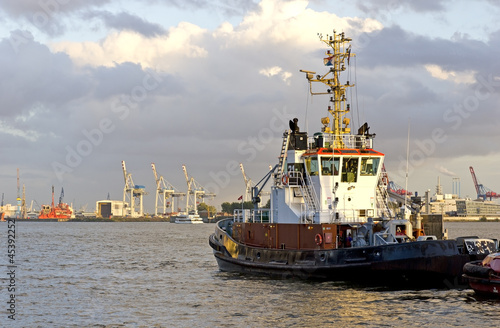 Tugboat at Hamburg port