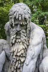 Skulptur Mann mit Bart