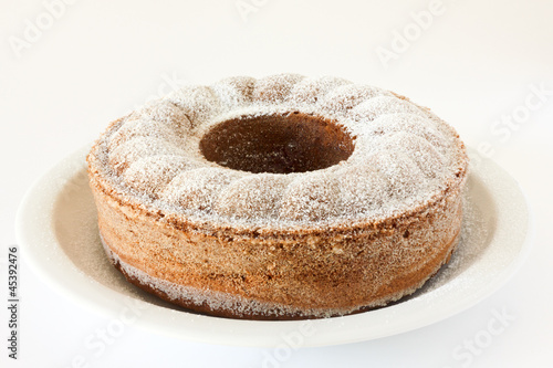 Perfectly baked chocolate bundt, pound, madeira or sponge cake