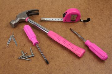 Pink handy tools