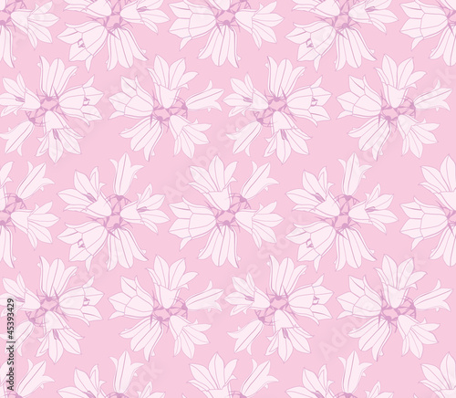 flower seamless pattern background with bluebell flowers