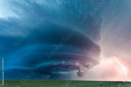 Texas supercell and lightning, May 2012 - 45393874