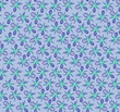 floral seamless pattern with flower on blue background