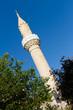 Minaret of Bodrum Castle Mosque from Mugla, Turkey