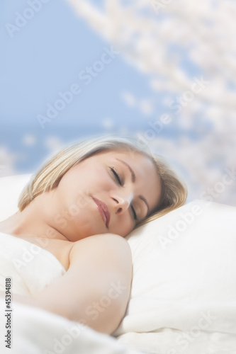 portrait of a sleeping woman