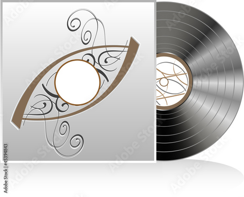 Vector illustration of retro vintage vinyl record