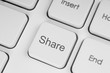 Share button on keyboard close-up
