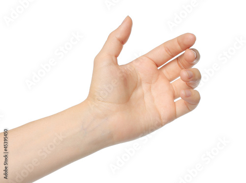 Woman hand like holding mobile phone, card...