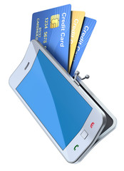 "Credit cards in the ""smartphone purse"""