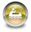 """Yellow Glossy Pictogram """"Canoeing"""""""