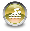"Yellow Glossy Pictogram ""Swimming"""