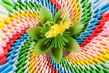 flower, on the bright modular origami as a rainbow poster