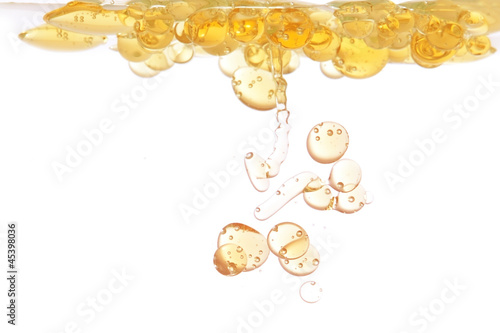 Oil bubbles in abstract form in the water. - 45398036