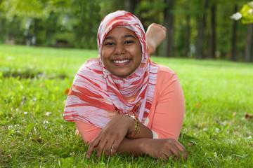 Portrait of young indian teenage girl