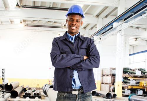 Smiling engineer portrait