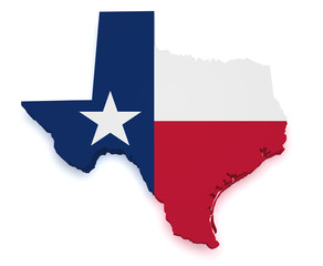 Texas Map 3d Shape