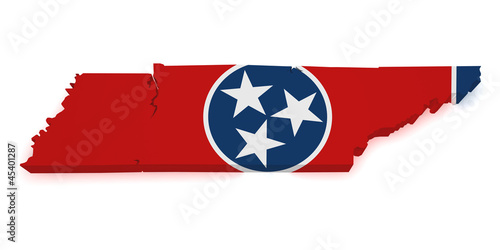 Tennessee Map 3d Shape