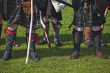 Lower part of medieval scottish warriors