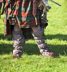 Lower part of medieval scottish warrior