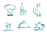 Restaurant icons and symbols